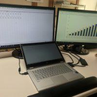 Excelで同じファイルを別々の画面に表示